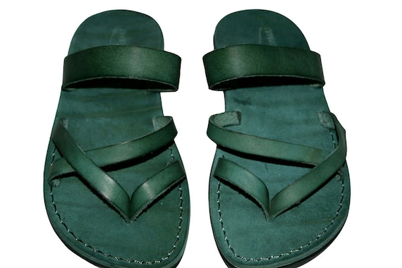 Sandals Moon Handmade Leather Genuine For Flip Flop Sandals Green Men Leather Women Sandals Unisex amp; Jesus Sandals Sandals S6Cwq