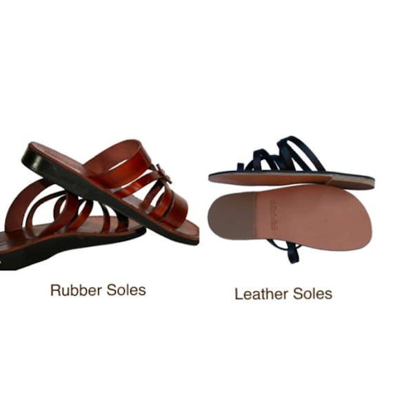 Handmade Surf Unisex Women Sandals Sandals Sandals Leather Decor For Brown Leather Sandals Flip Leather Men Flops Brown Flat amp; 1A85yqwF