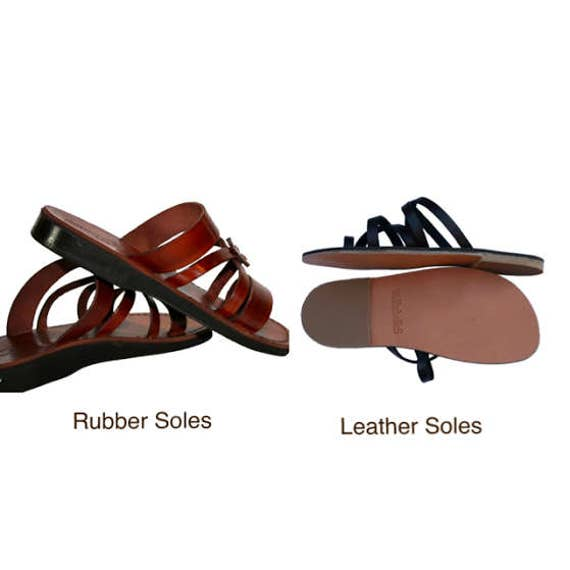 Unisex New Leather Flops Sandals amp; For Leather Gray Brown Flats Leather Handmade Triple Sandals Men Sandals Sandals Flip Women AwrZRqA