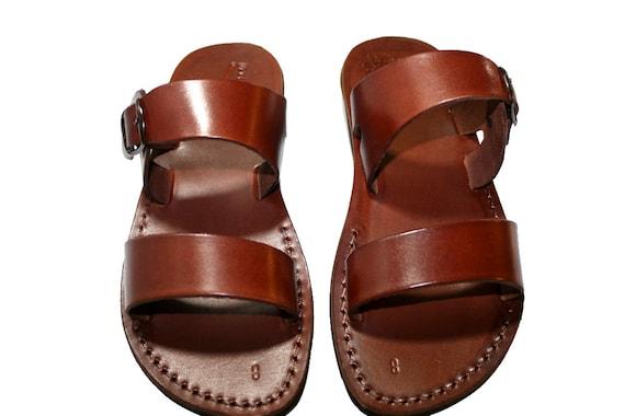 Bio For Sandals Women Flop Jesus Unisex SandalsFlip Buckle Genuine Menamp; Leather Brown Handmade rxodCBe