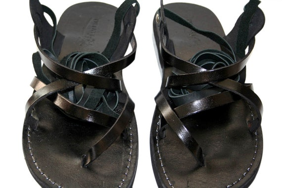 Sandals Leather Jesus Genuine For Leather Sandals Black Sandals Handmade triple amp; Gladiator Women Gladiator Design Sandals Men 1ZFPqBEw