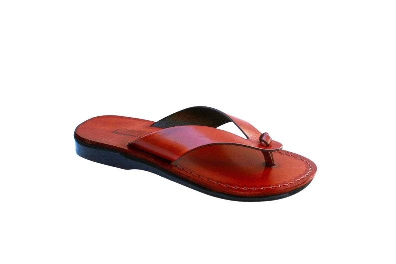 4912355e4 Brown Surf Leather Sandals For Men   Women Handmade Unisex