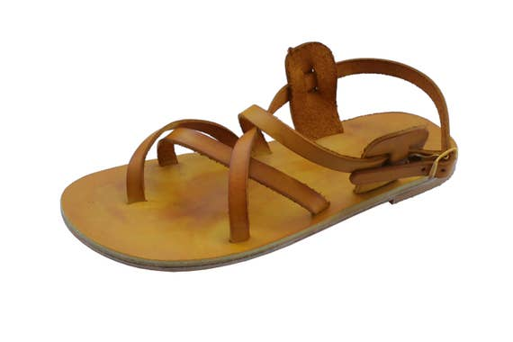 Leather For Jesus Sandals Sandals Sandals Triple All Leather All Yellow Sandals Unisex Women Soles amp; Genuine Men Handmade Leather w64xIz1