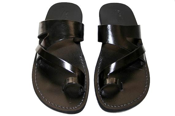 Handmade Men Flip For Women Leather Leather Unisex Flops Leather Sandals Sandals Leather Sandals amp; Zing Black Black Flats Sandals 7qIFw0I