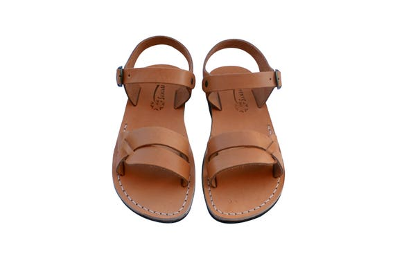 For Leather Sandals Sandals Sandals Flip Men Leather Sandals Women Circle Handmade Caramel Jesus Flop Sandals Unisex amp; Natural qB5RntxwH
