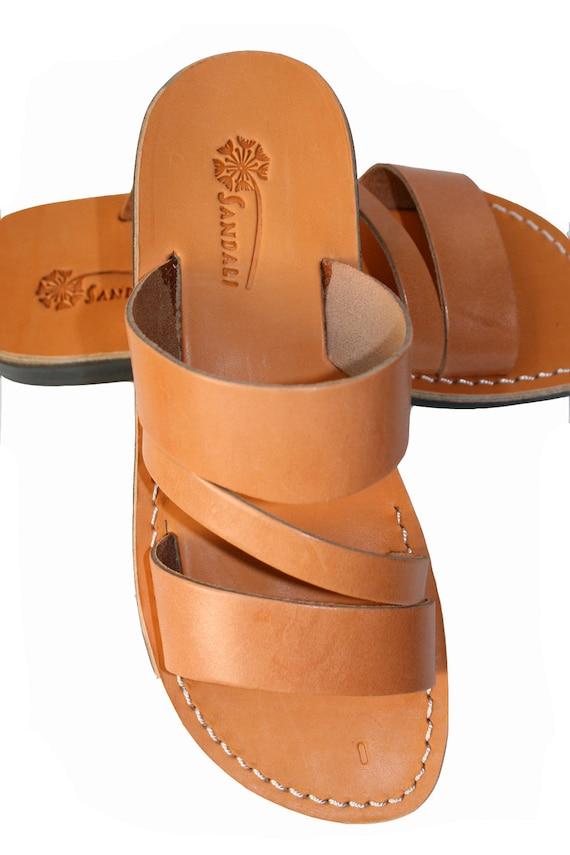 amp; Unisex For Sandals Leather Caramel Flip Leather Leather Natural Flip Sandals Handmade Men Sandals Flops Flats Women Leather Sandals w6Xt8