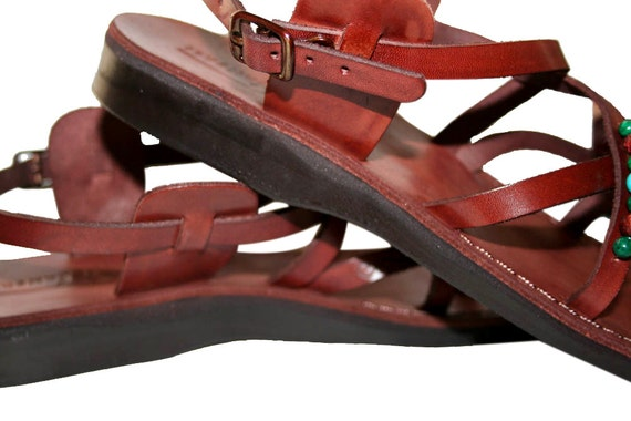 Unisex Decor Jesus Sandals Flop Leather For Handmade Leather amp; Women Sandals Triple Brown Sandals Flip Genuine Sandals Men Sandals qwCgxdzq6