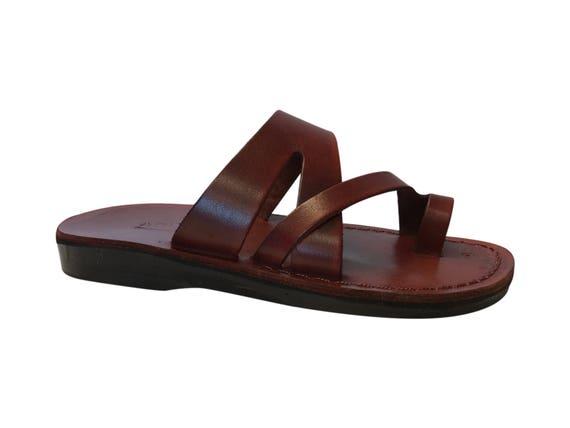Flip Unisex Leather amp; Zing Sandals Genuine Sandals Men Sandals Sandals Leather For Brown Women Handmade Flop Sandals Jesus v58qwMASA