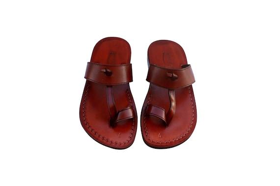 Sandals Jesus Men Leather Leather Flop Brown Sandals Sandals Sandals For Flip Unisex amp; Twizzle Genuine Women Handmade Sandals qOawIH7ax