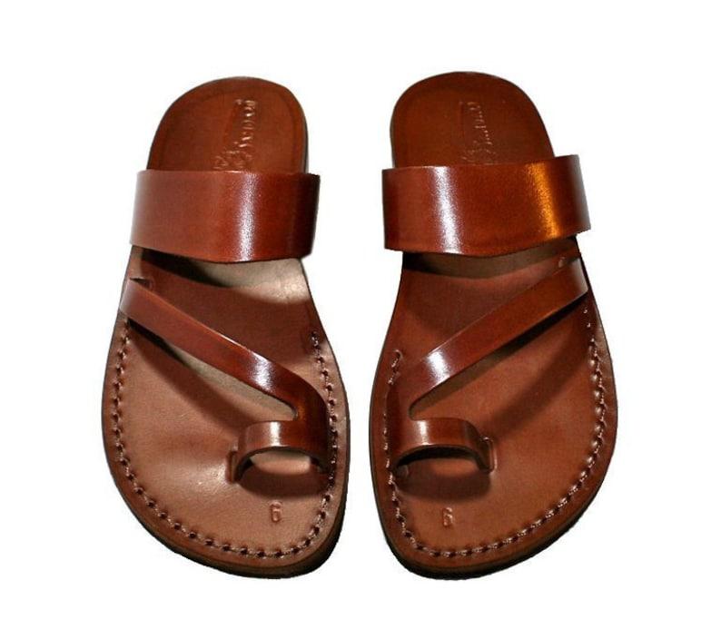 ab8959dc040 Brown Roman Leather Sandals For Men   Women Handmade