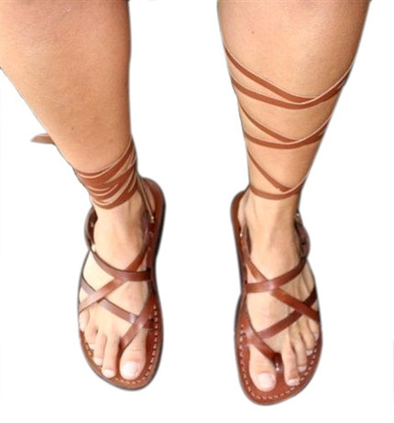 Sandals Women Jesus Men Leather Sandals Leather triple Gladiator Brown Unisex Genuine Sandals Sandals Design Handmade For amp; xwa1fqSY