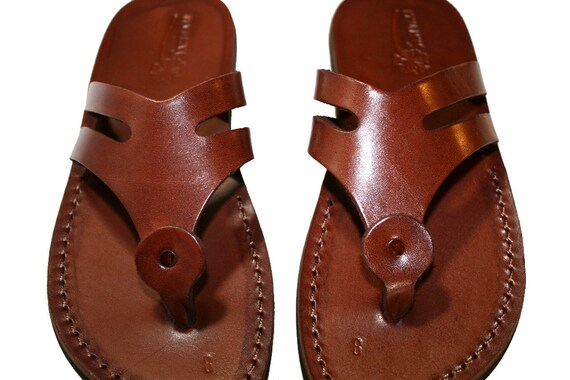 Leather amp; Men Sandals For Brown Leather Arrow Women Handmade Genuine Sandals Jesus Unisex Sandals Sandals Flip Sandals Flop XqqwaHIx1