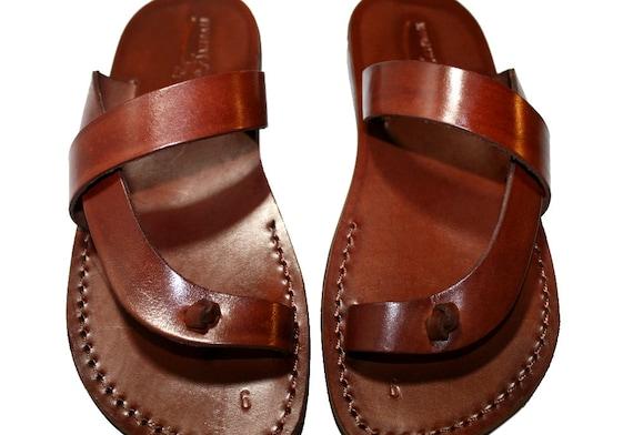 Sandals Flops Flats Leather Unisex Leather amp; Sandals Leather Sandals Brown For Brown Leather Men Flip Women Sandals Handmade Earth 1ZqwHZ