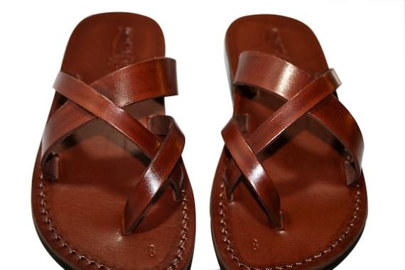 amp; se conformer sandales cuir femmes Brown pour sandales hommes en p0OwxBZq