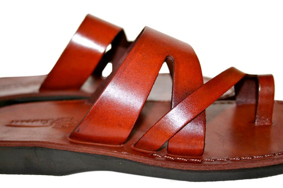 Brown amp; Genuine Sandals Sandals Sandals Women Zing Sandals Flip Sandals Men Jesus Flop Leather Leather Unisex For Handmade rTqrzWX4U