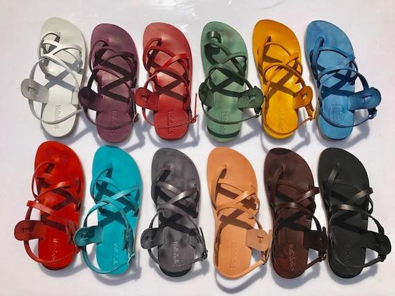 Flats Brown For Sandals Roman Leather Flip Sandals Sandals Leather Women Handmade Unisex Flops amp; Leather Leather Sandals Men Brown rqrvBS