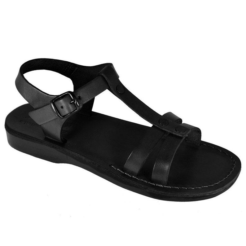 d00208f81b66 New Black Oliver Leather Sandals For Men   Women Handmade