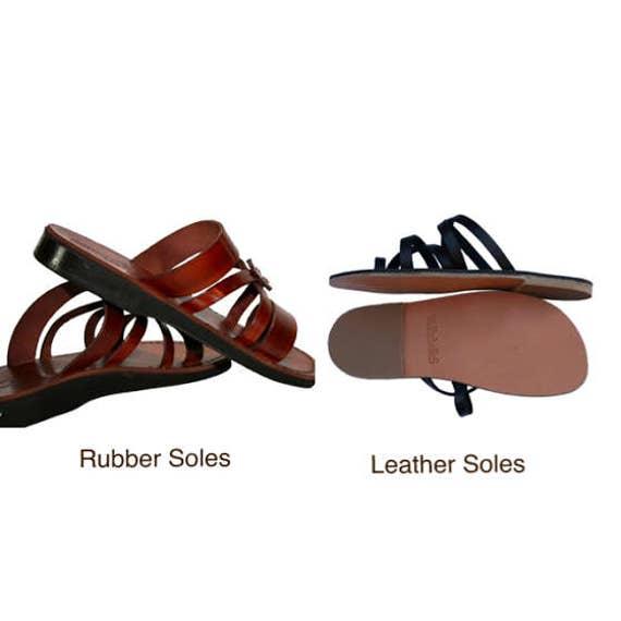 For amp; Leather Sandals Sandals cross Sandals Flip Leather Men Women Flop Sandals Flower Handmade Brown Sandals Genuine Unisex Jesus 4nIBqpwYE