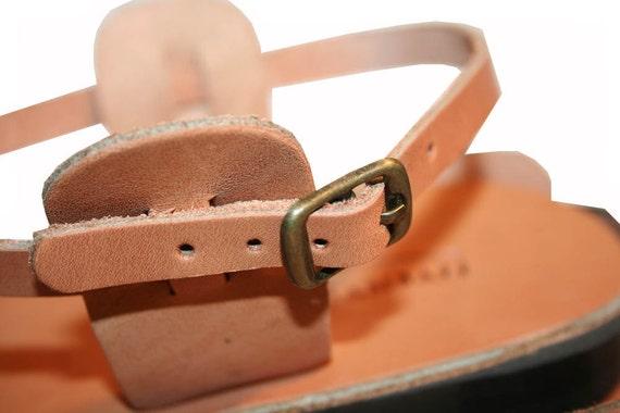 en sandales caramel pour amp; cuir Triple Sandales hommes femmes 1d8Fqnx