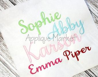 Machine Embroidery Design Font  Samantha Alphabet INSTANT DOWNLOAD