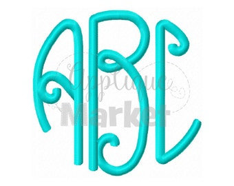 Machine Embroidery Design Embroidery Lilly Circle Monogram Alphabet INSTANT DOWNLOAD