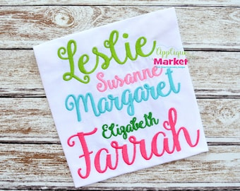 Machine Embroidery Design Applique Market Script Alphabet INSTANT DOWNLOAD
