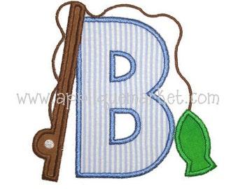 Machine Embroidery Design Applique Fish Alphabet INSTANT DOWNLOAD