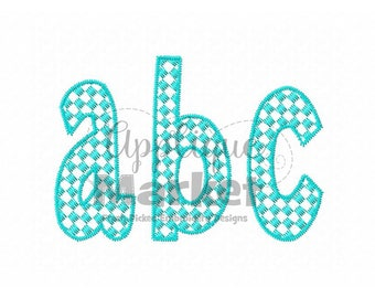 Machine Embroidery Design Applique Henry Checkered Pattern Fill Alphabet INSTANT DOWNLOAD
