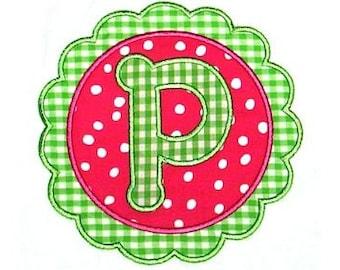 Machine Embroidery Design Applique Scallop Circle Applique Alphabet INSTANT DOWNLOAD