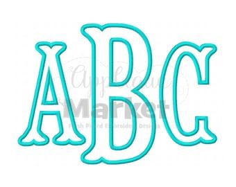 Machine Embroidery Design Fishtail Monogram Applique Font INSTANT DOWNLOAD