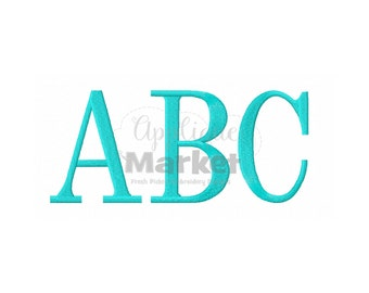 Machine Embroidery Design Applique Serif Block Jumbo Alphabet INSTANT DOWNLOAD