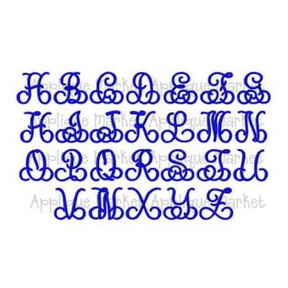 Machine Embroidery Design Font Splendid Monogram Font with   Etsy