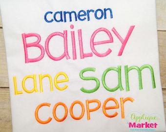 Machine Embroidery Design Applique Bailey Satin Alphabet INSTANT DOWNLOAD