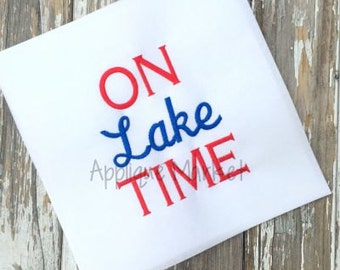 Machine Embroidery Design Applique On Lake Time INSTANT DOWNLOAD