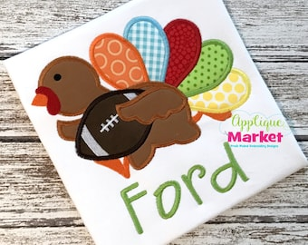 Machine Embroidery Design Embroidery Turkey Football INSTANT DOWNLOAD
