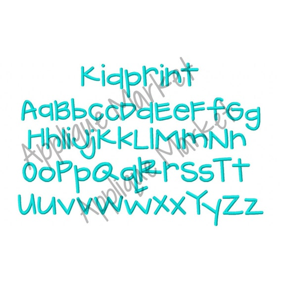 Máquina del bordado diseño bordado Kidprint alfabeto descarga   Etsy
