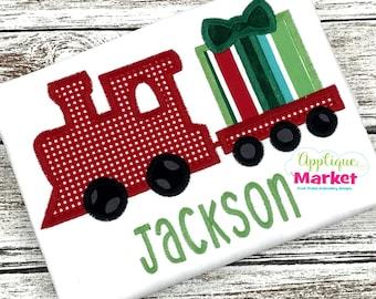 Machine Embroidery Design Applique Gift Train INSTANT DOWNLOAD