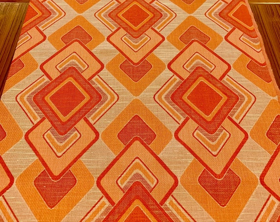 Mod 70s Scandinavian Upholstery Fabric with a Mid Century Panton-esque Op Art Vibe/ Home Decor/ BTY 3 Yards Available