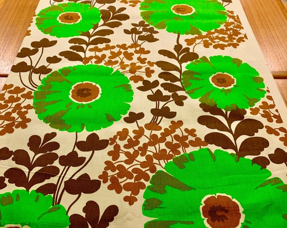 Sensational 70s Floral Fabric with a Scandinavian Vibe/ Monster Daisy Garden/ Cotton Yardage for Upholstery and Home Decor/ 6 Yds Available