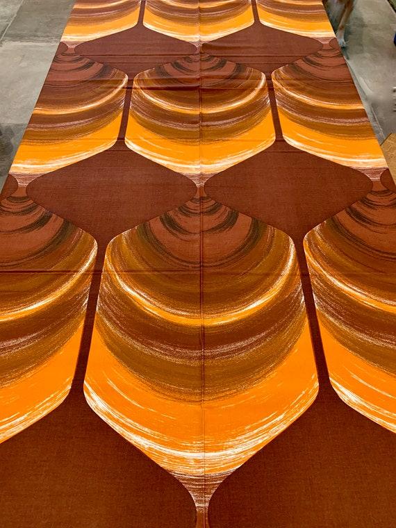 Boho Vibe 70s Scandi Fabric/ Verner Panton Vibe/ Upholstery/Op Art Fabric Wall Art/  Home Decor/ BTY 11 Yards