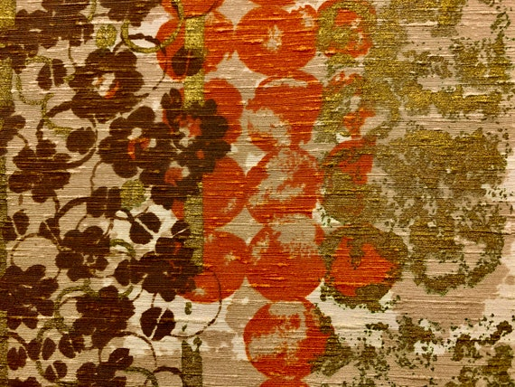 """Fantastic Mid Century Modern Eames Era Abstract Fabric/ Acetate Yardage for Upholstery, Drapery, Home Decor/ 44"""" x 76"""""""