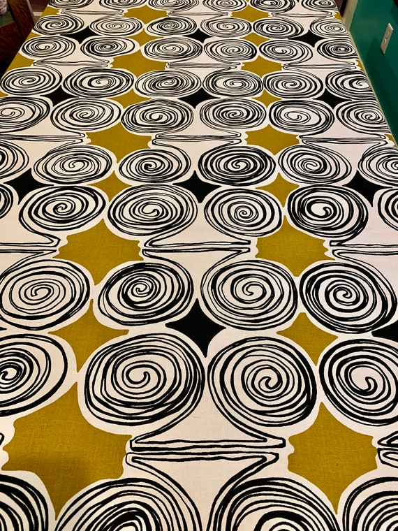 Mod 70s Op Art Design Fabric with a Psychedelic Vibe//Cotton Yardage for Upholstery and Home Decor/BTY 13 Yards