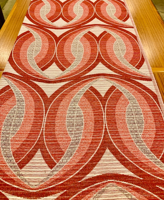 Mod 70s Scandinavian Fabric/ Op Art Design with a Verner Panton Vibe for Upholstery and Home Decor/ 4 Yards Available