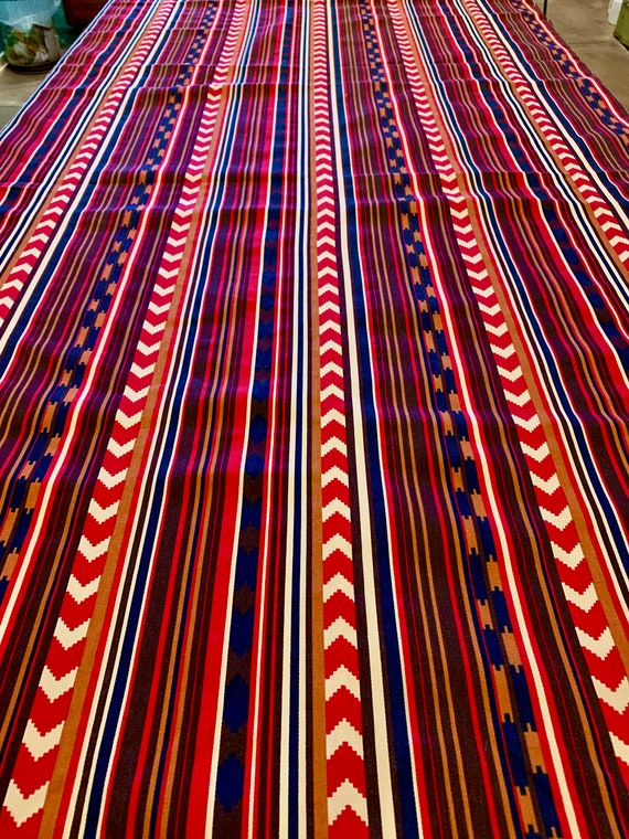 Vintage 1970s Upholstery Fabric with a Southwestern Vibe for Home Decor
