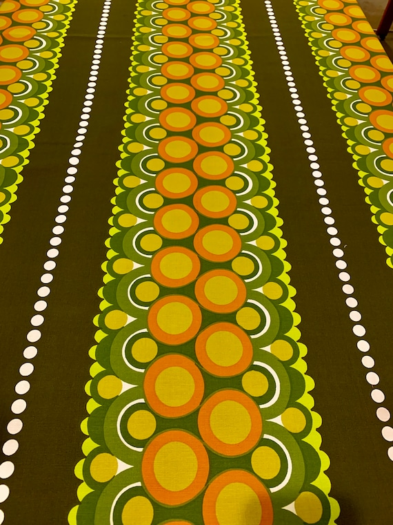 Disco 70s Broadcloth Fabric with an Op Art Flair/ Scandinavian Design for Upholstery and Home Decor/ 7 Yards Available