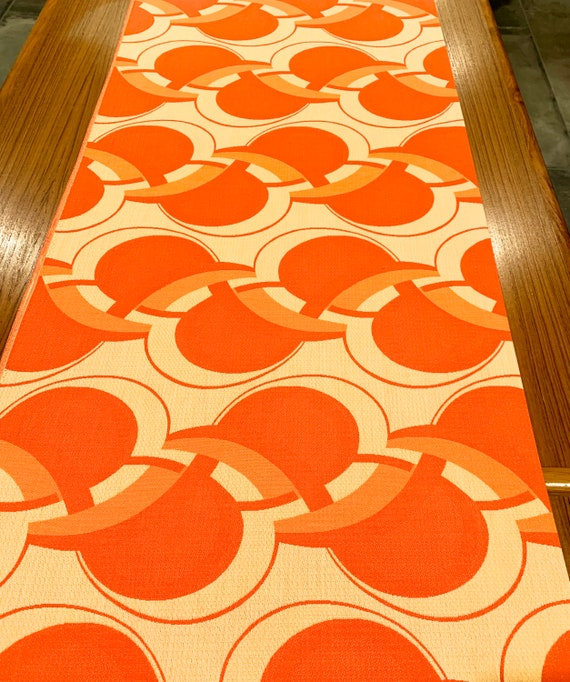 Vintage 70s Scandi Fabric with a Verner Panton Op Art Vibe/ Upholstery and Home Decor/ 2.6 Yards