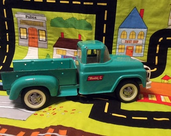 Buddy L Pickup Truck, Green Mid Century Toy Truck, Vintage Metal Buddy L Collectible Toy Truck