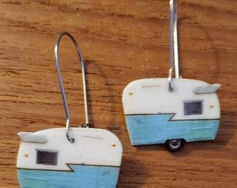 Retro Colored Camper Dangle Earrings