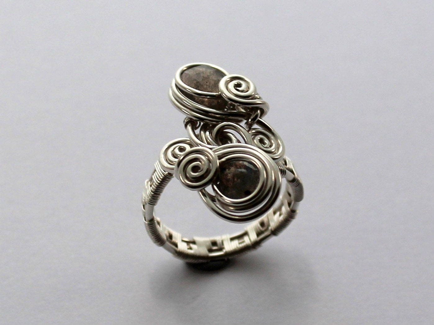 Double Stone Woven Ring, Wire Jewelry Tutorial, PDF File instant ...