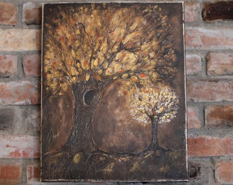 Original painting tree of life acrylic painting wedding wall decor landscape painting